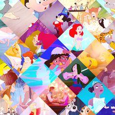 Some iconic scenes of Disney
