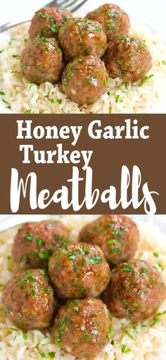 Low Unwanted Fat Cooking For Weightloss Who Can Resist A Plateful Of Honey Garlic Turkey Meatballs? Incredible As Appetizers Or Served Over Rice As An Easy Dinner. 239 Calories And 7 Weight Watchers Sp Baked Healthy Ground Turkey Recipe Dinner Healthy Turkey Recipes, Easy Ground Turkey Recipes, Chicken Recipes, Meatball Recipes, Beef Recipes, Vegetarian Recipes, Health Dinner, Dinner Healthy, Healthy Recipes