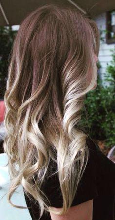 Curly omber hair #gorgeoushair