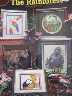 See Sally Sew-Patterns For Less - The Rainforest Gorilla Toucan Macaw Orchids Cross Stitch Cross My Heart Design Needlepoint Charts  , $9.99 (http://stores.seesallysew.com/the-rainforest-gorilla-toucan-macaw-orchids-cross-stitch-cross-my-heart-design-needlepoint-charts/)