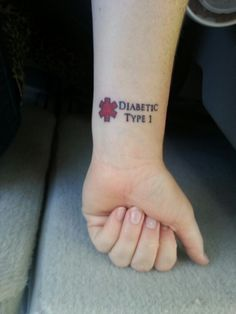 My T1D tattoo...... I'm always forgetting to wear my medic alert bracelet so this will be back up incase of an emergency anytime, even during my absent minded times. It's on the inside of my left wrist where an EMT would go first to check vitals.