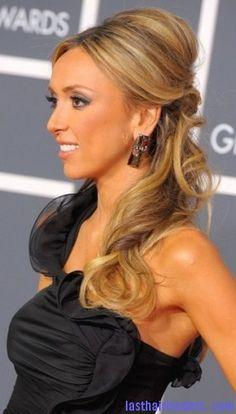 Love her hair in this picture. Kiss Makeup, Hair Makeup, Pretty Hairstyles, Wedding Hairstyles, Giuliana Rancic, Hair Affair, Celebs, Celebrities, Hair Looks