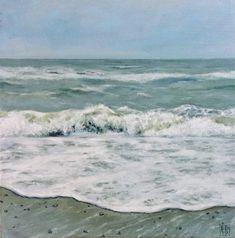Pale Spring Tide – Elena Duff Ireland Uk, Waves Curls, Uk Europe, The Duff, My Arts, Landscape, Spring, Beach, Water