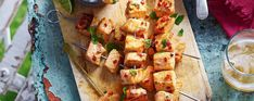 Get ready for the bank holiday weekend with these awesome spiced salmon skewers Asda Recipes, Fish Recipes, Cooking Recipes, Recipies, Savory Snacks, Healthy Snacks, Healthy Recipes, Healthy Eats, Salmon Skewers
