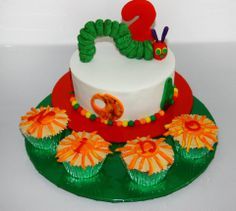 The Very Hungry Caterpillar Cake and Cupcakes by Sweetz Cakes, Cleveland, Queensland, Australia. You'll find this Cake Appreciation Society Member in our Directory at www.cakeappreciationsociety.com