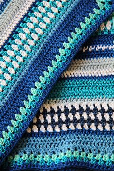 Just bought this pattern...will see how it works up! Love the color choices, too! Crochet pattern baby blanket by creJJtion on Etsy, $12.00