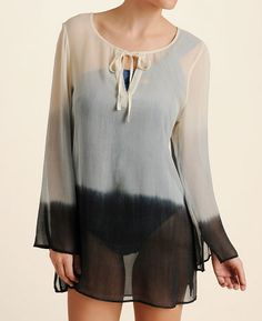 Gypsy 05 Women's Silk Ombre Tunic Cover-Up