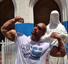 It is a sin and a shame for The Rock to look this good!  Scrumptious!