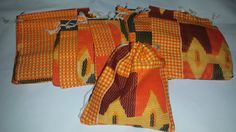 SOLD BY DOZEN jewellery bags gift bags wedding favours medium size 4 inches (11 cms) by 4 1/2 inches (12 cms) - set of 12 orange red beige
