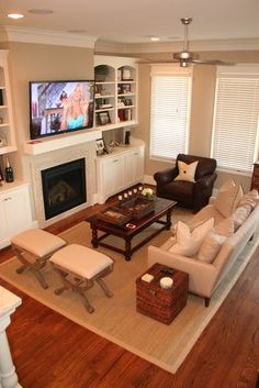 ....I wonder what show that is??  Love this family room