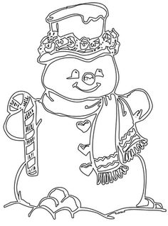 Blank Snowman Coloring Pages