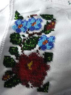 Diy Projects To Try, Elsa, Embroidery Designs, Garden Design, Diy And Crafts, Cross Stitch, Beautiful, Beads, Feelings
