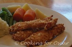 Cooking for Oscar: Baked Chicken Tenders (Salicylate sensitivity)