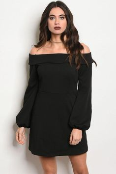535b502f505a8 Black Off the Shoulder Dress Trendy Dresses