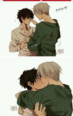 You know what I'm saving this as Drarry and Victuuri cause I honestly have no idea which one it is Harry Potter Comics, Images Harry Potter, Draco Harry Potter, Harry Potter Draco Malfoy, Harry Potter Ships, Harry Potter Anime, Albus Severus Potter, Victor Y Yuri, Drarry Fanart