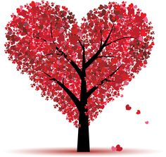 red dots, shaped as a heart.....tree