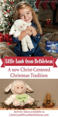A Christ-Centered alternative to Elf On the Shelf! This Lamb comes with a book telling the story of Jesus' birth in Bethlehem and continues to bring the Christmas Spirit all season long. Your Lamb can do this in countless ways. It can bring scripture passages, promote family service projects, teach about nativity pieces, options are endless! More ideas available on our website. #LittleLamb