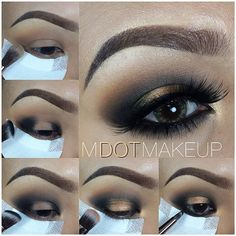 All shadows are @motivescosmetics.   1. Apply Cappuccino to crease with blending brush. 2. Apply Onyx to outer corners of your lid with angled blending brush. 3. Blend and drag across crease with same brush. 4. Apply Pink Gold to center lid and Vintage glam to tear duct and center lid as well with shading brush. 5. Smoke out lower lid with Onyx and pencil brush. 6. Add lashes and DONE! Instagram photo by @mdotmakeup (Michelle Dotdot Makeup) | Iconosquare