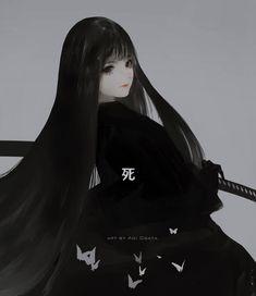 Image in Random Anime/Manga/Digital Art collection by Grace⊰ Emo Anime Girl, Dark Anime Girl, Pretty Anime Girl, Kawaii Anime Girl, Manga Girl, Blue Anime, Gothic Anime, Gangster Girl, Fanarts Anime