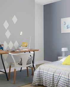 Grey Blue bedroom idea