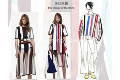 TREND TALK - THE CHANGE OF THE STRIP 2  The entire series has the bright and contrasting stripes. Freely crossing or parallelled stripes have the characters of distinct and colorful, with a strong fashion sense and visual impact. Dazzling, flaunt displayed in front of the public.