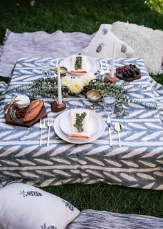 A charming backyard picnic