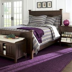 Brighten Coffee King Bed. Crate and Barrel.