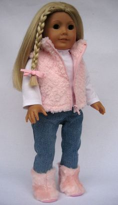 American Girl Doll Clothes Pink Snow Outfit with by MyAngieGirl