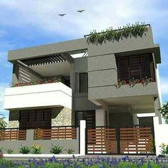 Dress Neck Designs, Grand Homes, Modern House Design, My Dream Home, Facade, Motivational Board, Exterior, House Elevation, Bungalows