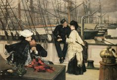 James Tissot - The Captain and the Mate 1873