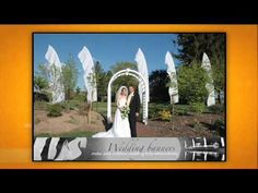 A short commercial produced by Get Married Wedding Flags, Outdoor Weddings, Wedding Vendors, Got Married, Feather, Commercial, Banner, Frame, Banner Stands