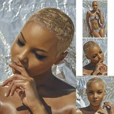 The Cut Life Gorgeousness! Natural Hair Short Cuts, Short Hair Cuts, Natural Hair Styles, Blonde Pixie Cuts, Blonde Twa, Bald Hair, Cut Life, Sassy Hair, My Hairstyle