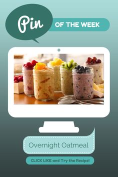 Overnight Oatmeal! Great healthy breakfast!  Ingredients - 6oz Greek Yogurt (modified from original) - 1/4 cup oats - 1/4 cup fruit  Instructions: 1. In container with tight-fitting cover, mix yogurt and uncooked oats. Stir in desired fruit. 2. Cover; refrigerate at least 8 hours but no longer than 3 days before eating.