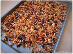 Quinoa-Pumpkin Seed Granola  All natural ingredients....just try to keep your hands out of this stuff....so addicting!