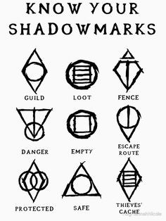 """Just realized today in my linguistics class that Bethesda took both the """"shadowmarks"""" (skyrim) and """"rail signs"""" (fallout from the concept of """"hobo symbols"""" that existed in North America from the. The Elder Scrolls, Elder Scrolls Skyrim, Maquillage Voodoo, Skyrim Tattoo, Simbolos Tattoo, Alphabet Code, Runic Alphabet, Book Of Shadows, Runes"""