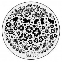 Bundle Monster Nail Stamping Plate 2015 Secret Garden Collection - BM723: Do Bats Eat Cats?