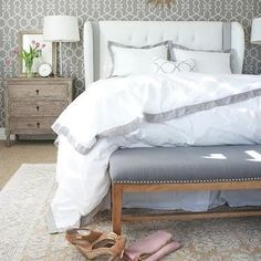 White and Gray Bedrooms, Transitional, bedroom, A Thoughtful Place