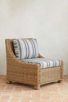 Hillside Wicker Chair   Anthropologie Outdoor Furniture Covers, Woven Chair, Open Weave, Cleaning Wipes, Home Furniture, Wicker, Armchair, Cushions, Indoor