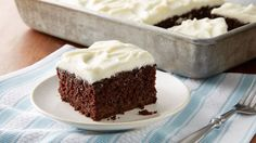 An all-time favorite cake gets a chocolatey twist, topped with classic cream cheese frosting.