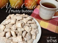 Apple Cider Muddy Buddies- perfect fall snack! Gluten Free