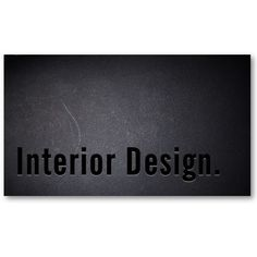 Classy Black Out Interior Design Business Card