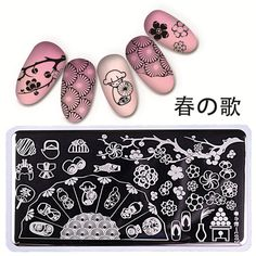 NICOLE DIARY Nail Art Stamp Template 126cm Rectangle Flower Design Image Plate L002 ** This is an Amazon Affiliate link. You can find out more details at the link of the image.