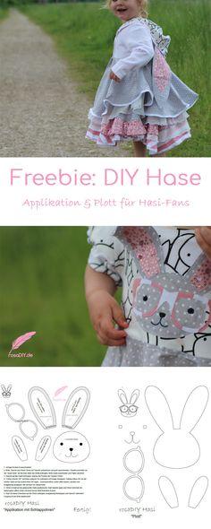 Wolltet ihr auch schonmal ein DIY Hasen nähen? Heute zeige ich Möglichkeiten ein traumhaftes DIY Hasen Ouftit nähen könnt! Den DIY Hasen gibt es als Applikation und Plott auf meinem Blog zum Download!