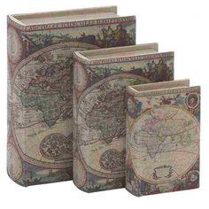 Found it at Wayfair - Wood Fabric 3 Piece Book Box Set