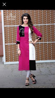 Mittoo Priyal Vol 4 Kurti Wholesale Catalog 8 Pcs Silk Kurti Designs, Kurti Designs Party Wear, Indian Designer Outfits, Designer Dresses, Indian Designers, Designer Kurtis, Designer Clothing, Abaya Fashion, Fashion Dresses