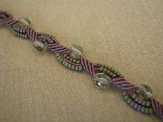 Micro-macrame jewelry from Winds of Time Jewelry Design on facebook. Her jewelry is gorgeous
