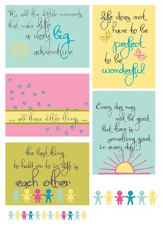 Free Blush Life Quotes Filler Cards from scrappystickyinkymess