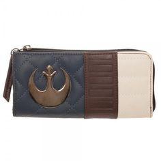 Star Wars HANS SOLO Zip Around Wallet Zipper Rebel Alliance Episode 7 Suit Up #Bioworld #ZipAroundWallet