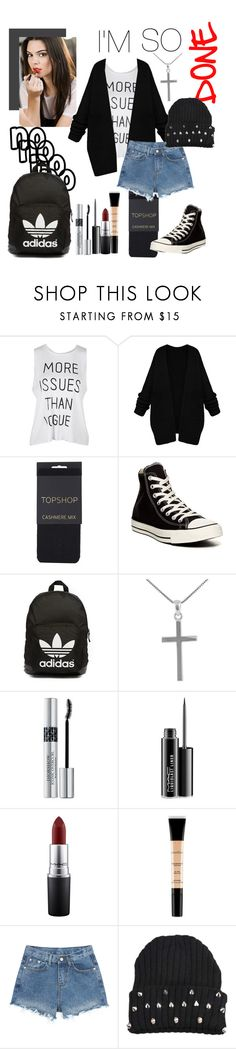"""""""Don't Know, Don't Care"""" by marisaleee ❤ liked on Polyvore featuring Estée Lauder, Topshop, Converse, adidas Originals, Jewel Exclusive, Christian Dior, MAC Cosmetics and Smashbox"""
