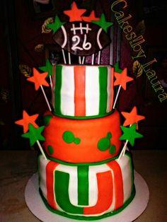 Miami#canes#hurricanes#cake